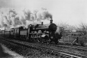 GWR locomotive no 100 William Dean between Creech and Durston (catalogue reference: COPY 1/460)