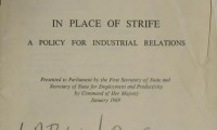 Image of In Place of Strife, white paper publihed 16th January 1969