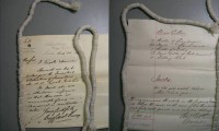 Image of Engels estate papers. Photo by Alastair Owens.