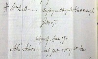 Image of Assizes: Midland Circuit: Crown Minute Books, 1818-1820. An example of a John  Jobson - stealing goods and being sentenced to transportation for 7 years.