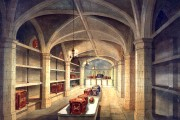 Illustration of medieval vaulted chamber