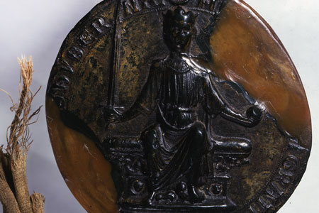 First Great Seal of Henry III obverse, cat. ref. E 42/315