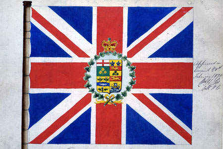 Flag for the Governor General of Canada, 1870, cat. ref. CO 325/54