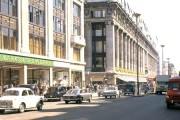 Oxford Street, London, with Marks & Spencer and Selfridge's stores on the left 1960s, cat. ref. INF 14/141