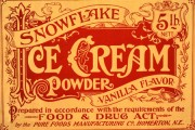 Snowflake Ice Cream Powder, Pure Foods Manufacturing Co, 1909, cat. ref. COPY1/278 (49)