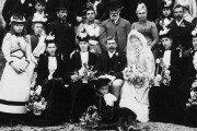 Wedding Party, Mr E W Skinner of Westerham, Kent, 05-10-1891, cat ref COPY 1/406/f388
