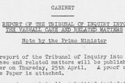 Report of the Tribunal of Inquiry into the Vassall Case and Related Matters. Author Harold Macmillan, cat. ref. Cab 129/113