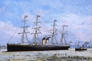 White Star Line poster, 1884 (catalogue ref: COPY 1/66 (187))