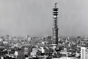 Post Office Tower (now British Telecom Tower), construction (catalogue reference CM 22/195)