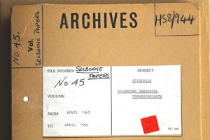 SOE: Lord Selborne's correspondence (catalogue reference HS 8/944)