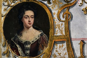 Portrait of Queen Anne, 1702 (catalogue reference T 40/4)