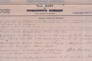 War Diary page 11th Battalion Leicestershire Regiment, March 1918 (catalogue reference