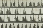 Two models meeting and partly turning, Muybridge, 1887 (catalogue reference COPY 1/383)