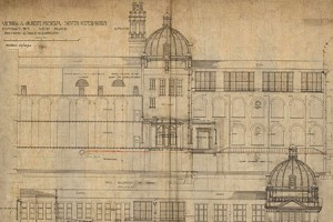 Victoria and Albert Museum, West Block and Back Elevation, 1900 (catalogue reference WORK 33/2190)