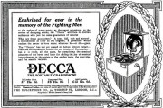 Advertisement for the Decca portable gramophone (public domain)