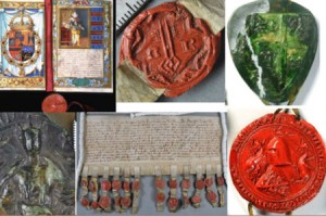 Wax seals at The National Archives