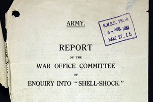 Enquiry into Causation and Prevention of Shell Shock report. 1922. Catalogue reference: WO32-4748.
