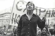 CHE activist Jackie Forster at Speakers Corner, Hyde Park, 1974