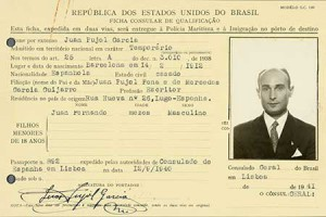 A Brazilian ID card for Juan Pujol-Garcia, codename Garbo. Catalogue reference KV 2-4214