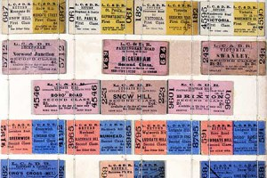 Examples of railway tickets from the W E Hayward Collection. Catalogue reference: ZSPC11-694