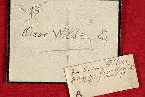 A photograph of a note addressed to Oscar Wilde. Catalogue reference: CRIM 1/41/6/1895