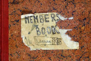 A photograph of the cover of a members book for the Caravan Club, 1934. Catalogue reference: DPP2-224
