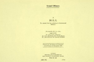 Bill to amend the law relating to homosexual offences 1961, Catalogue reference HO291 125 1.