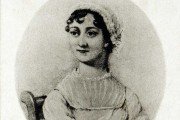 A photograph of Jane Austen from an old print, 1905. Catalogue reference: COPY1/487/457